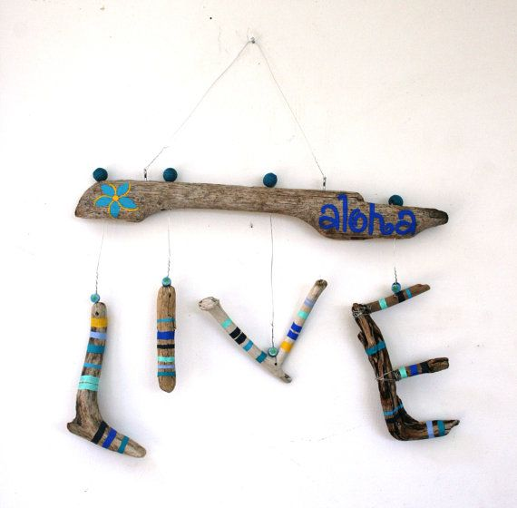 LIVE Aloha Hanging Driftwood Sign Made to by PeaceLoveDriftwood, $32.00