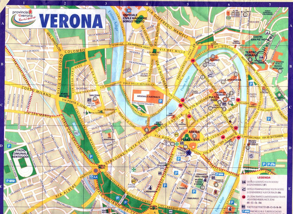 Map of Verona Italy School Research Pinterest Verona italy