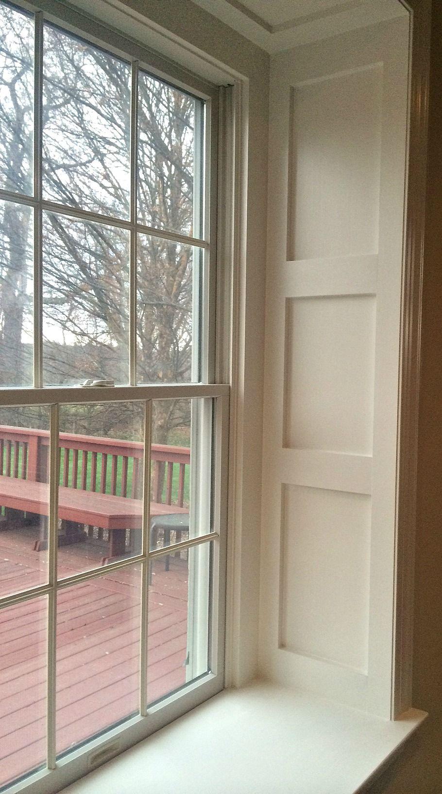 Interior window sill trim ideas - Wainscoting Around Window Sill Deep Window Sill