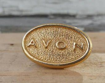 Pin AVON · Broche de collection  signée · Accessoire vintage · pin et broche vintage dorée Boutique bijoux vintage · Montréal Quebec Canada