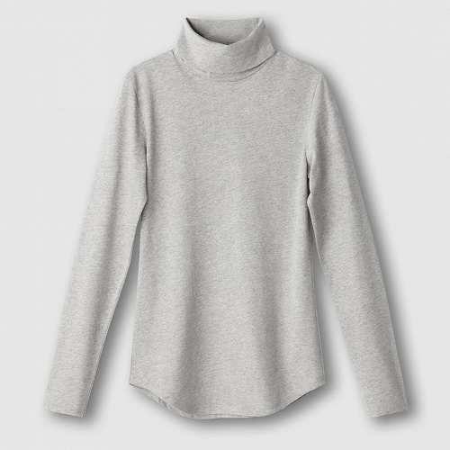 Prezzi e Sconti: #T-shirt tencel/lana Grigiorosso  ad Euro 13.97 in #R essentiel #La redoute donna abbigliamento