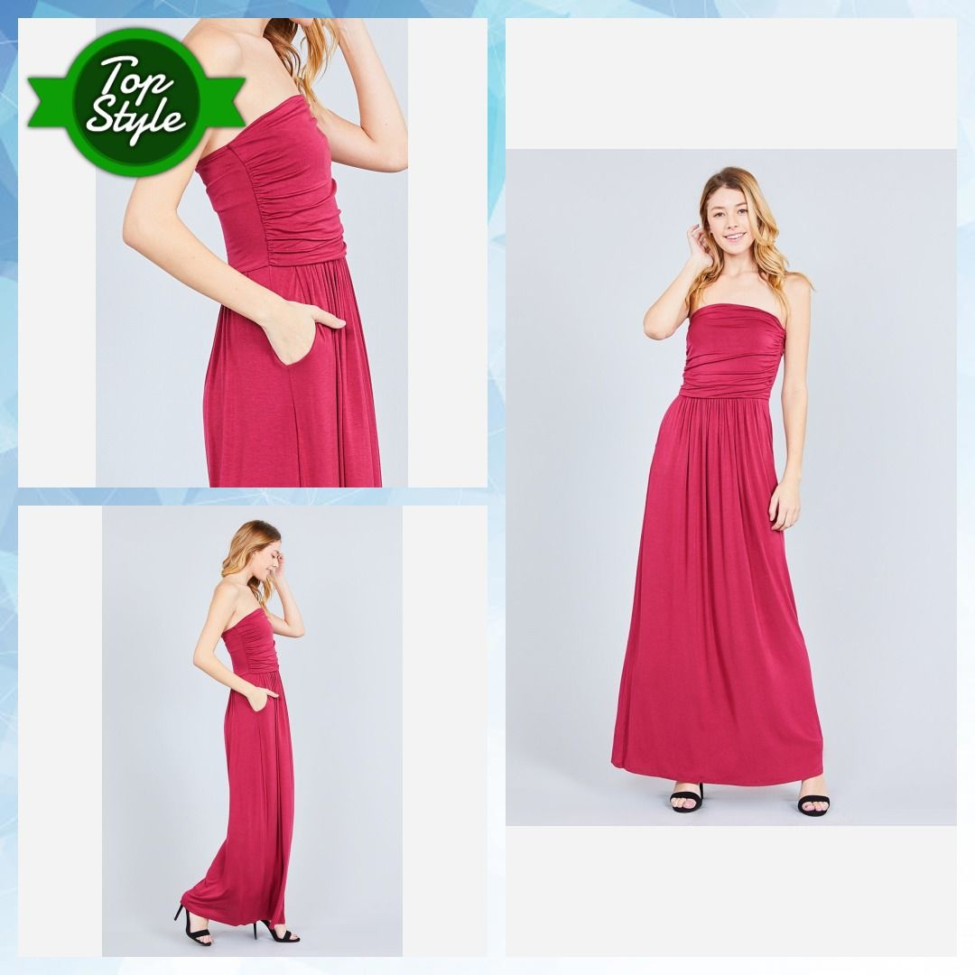 8693307702c4b Rayon Modal Spandex Tube Top Maxi Dress #fashion #clothes #accessories #cute  #beauty #value #sale #quality #plus #jewelry