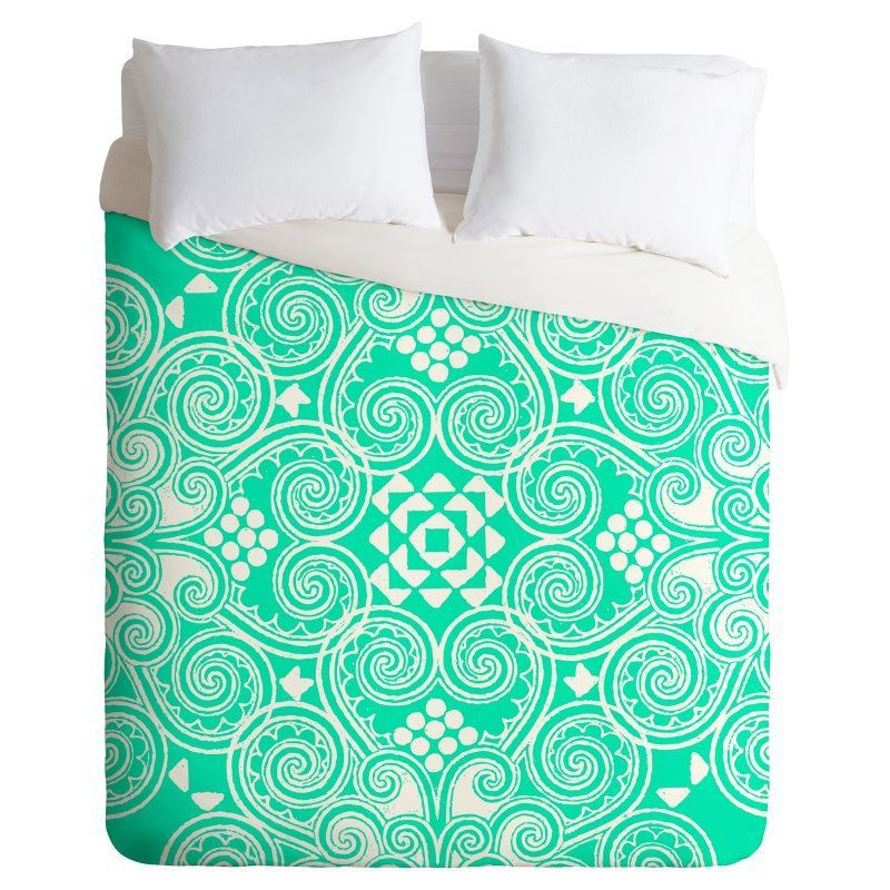 Budi Kwan Decographic Mint Duvet Cover by DENY Designs - 15263-DLITWI