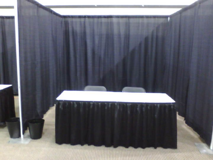 Full Height Walls Mary Kay Vendor Booths Pipe Drape