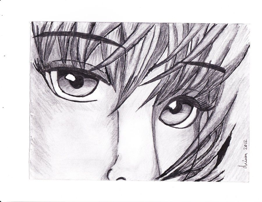 Pencil anime drawing