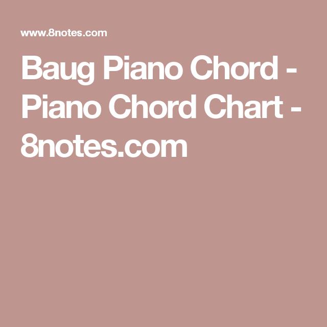 Baug Piano Chord Piano Chord Chart 8notes Music