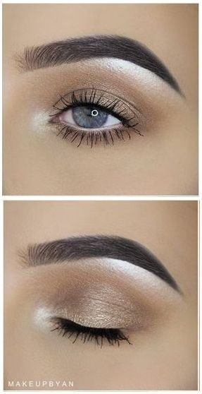 Everyday Eye Makeup On Pinterest: Soft Everyday Gold Shimmer Eye @makeupbyan #smokey Makeup