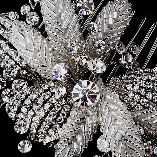 Affordable Elegance Bridal - Antique Silver Crystal Floral Wedding Hair Comb, $78.99 (http://www.affordableelegancebridal.com/antique-silver-crystal-floral-wedding-hair-comb/)