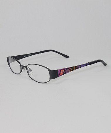 Look at this #zulilyfind! Satin Black 46mm Eyeglasses #zulilyfinds