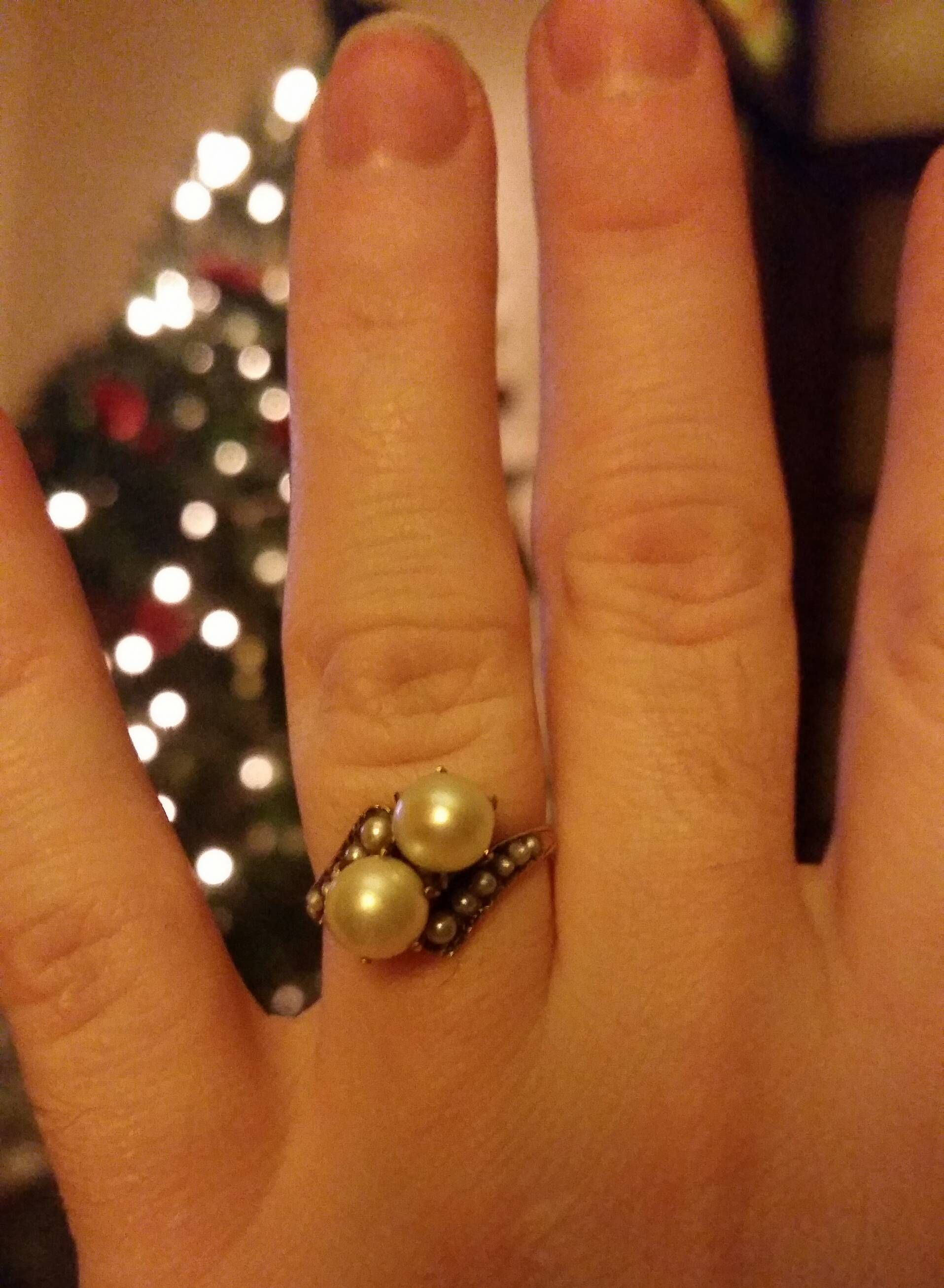 My all pearl engagement ring! Pearl engagement