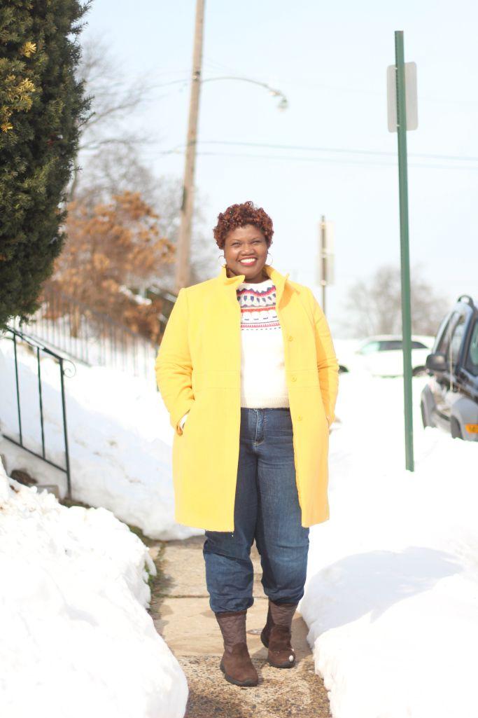 plus size coats, fair isle sweater, plus size fashion, winter ...