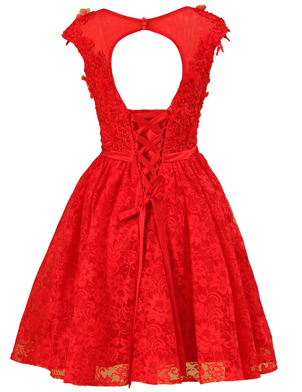 3c817782e42 LovingDress Women s Lace Homecoming Dresses Applique Beaded Short Prom Dress  at Amazon Women s Clothing store