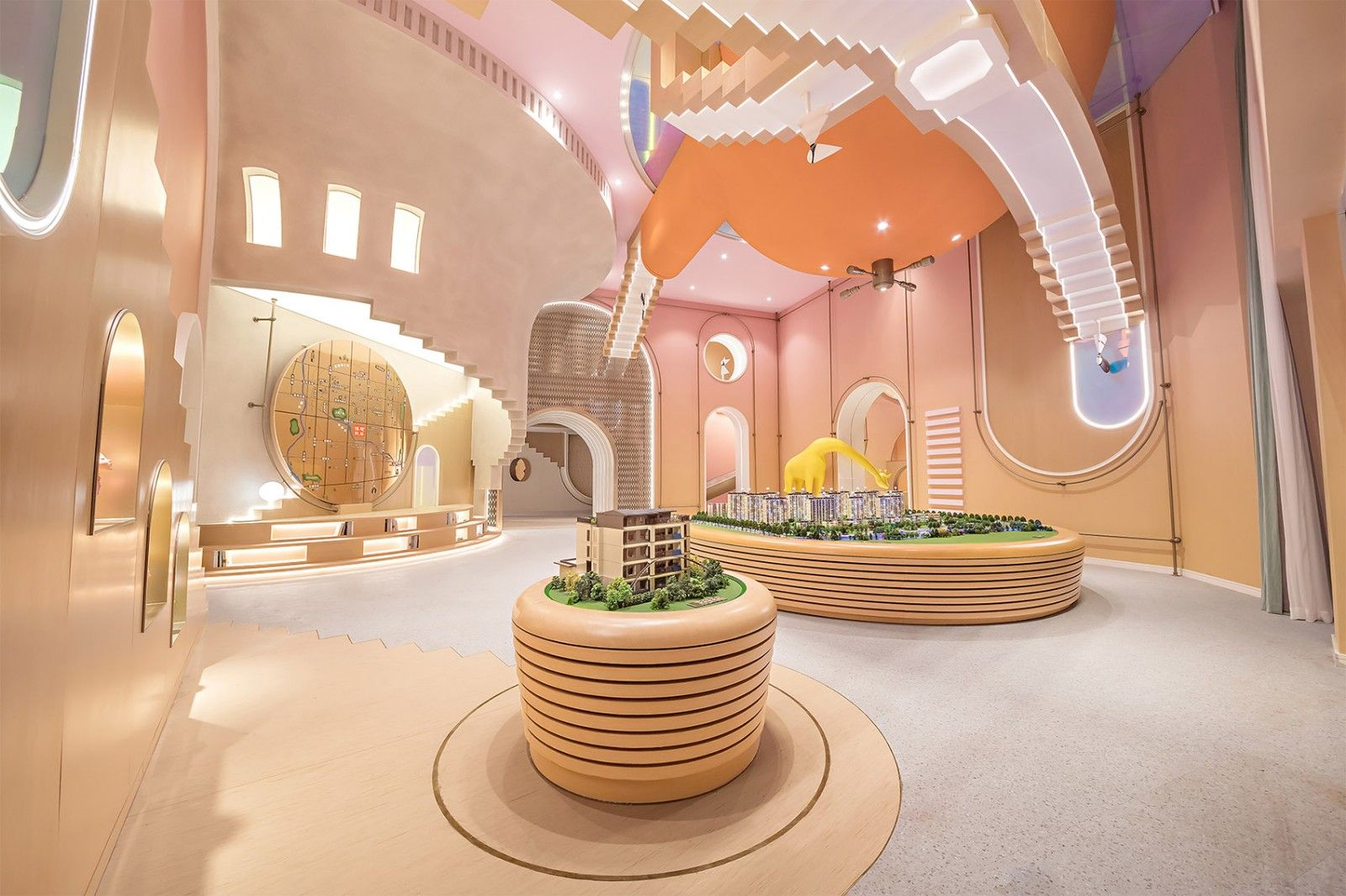 Interior Design Of Boguanxi An Sales Center Inspired By Monument