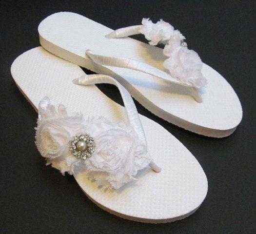 5c233f8cd63b2 Bridesmaid Flip Flops BRIDAL Flip Flops by Glamtouchboutique
