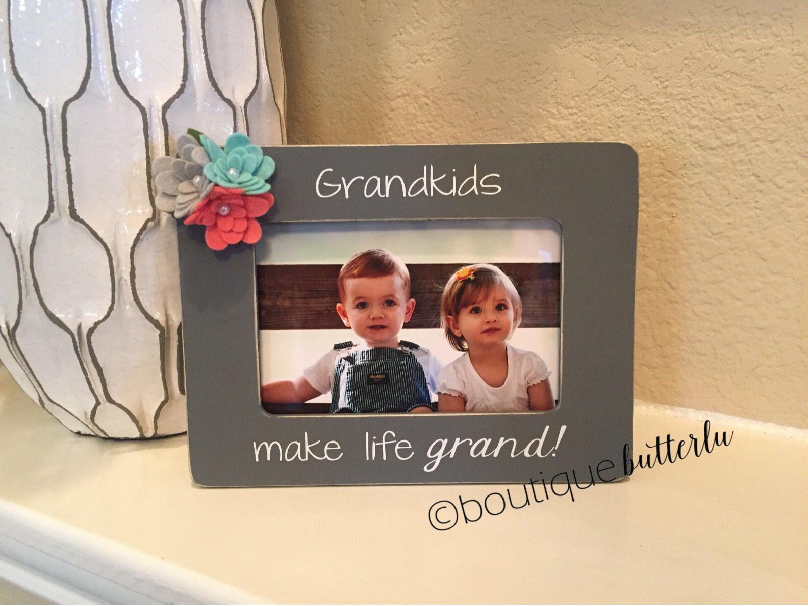 Grandkids Make Life Grand Grandparents Grandma Gift Grandma