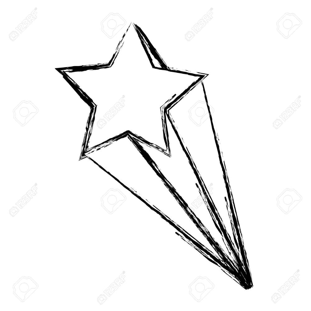 Grunge Nice Shooting Star Art Design Vector Illustration Star Art Star Illustration Star Clipart