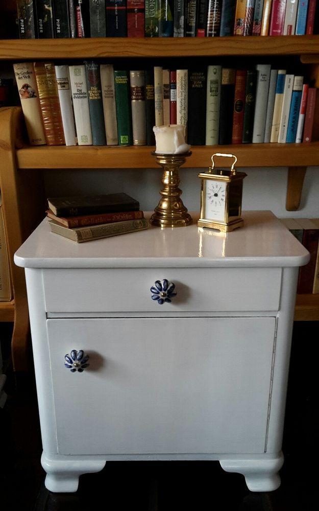 Nachtkästchen Nachttisch Kommode Shabby Chic Vintage Antik eBay - küchenbuffet weiß antik