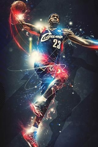 Lebron James 3d Wallpaper 2 Jpg 320 480 Pemain Nba Nba Olahraga