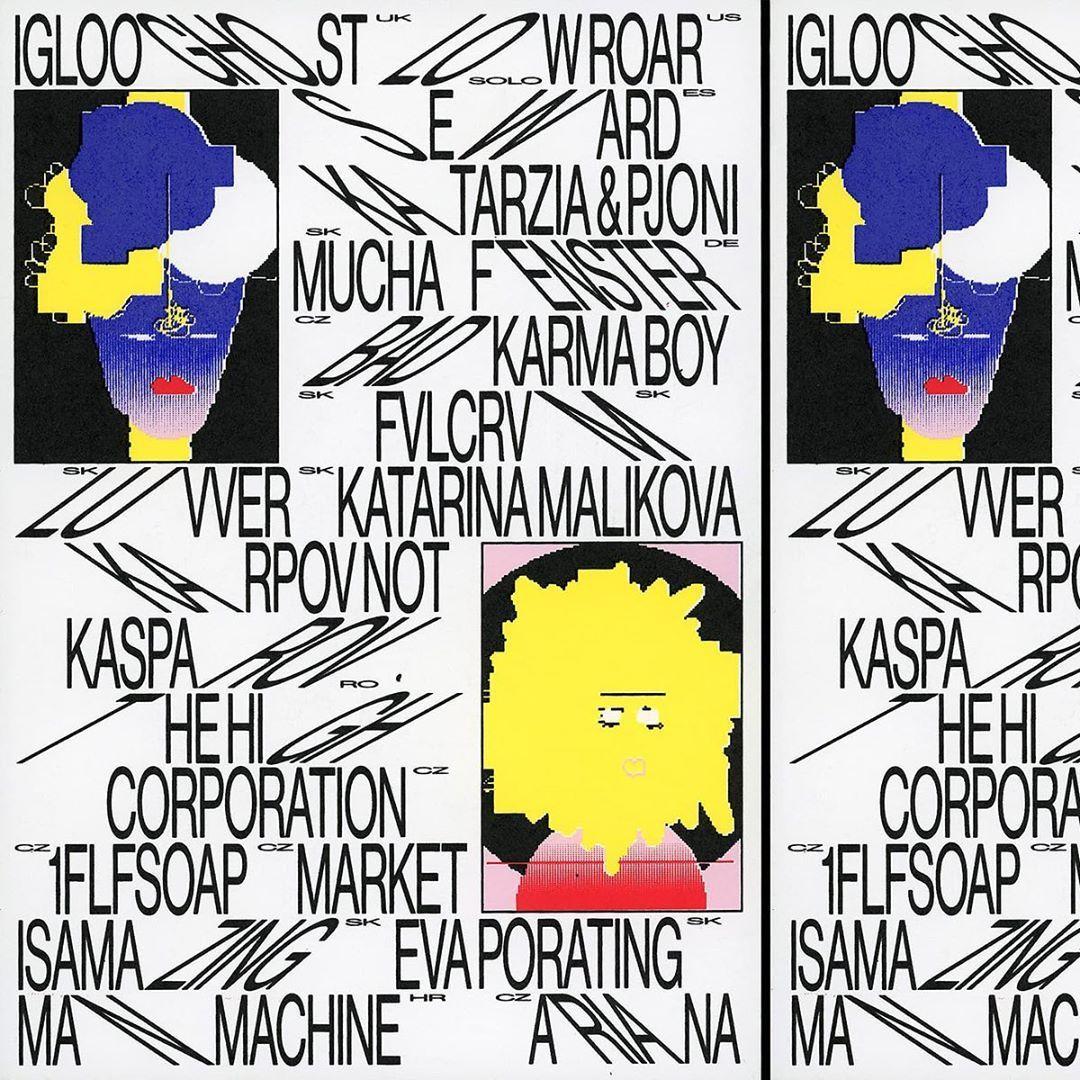 "Andrej & Andrej on Instagram: ""22 Artists, 22 Avatars @flaamfest . . #illustration #identity #flaam #festival #musicfestival #typedesign #layout #poster #graphicdesign…"""