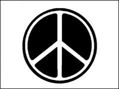 The logo for CND, the Campaign for Nuclear Disarmament.