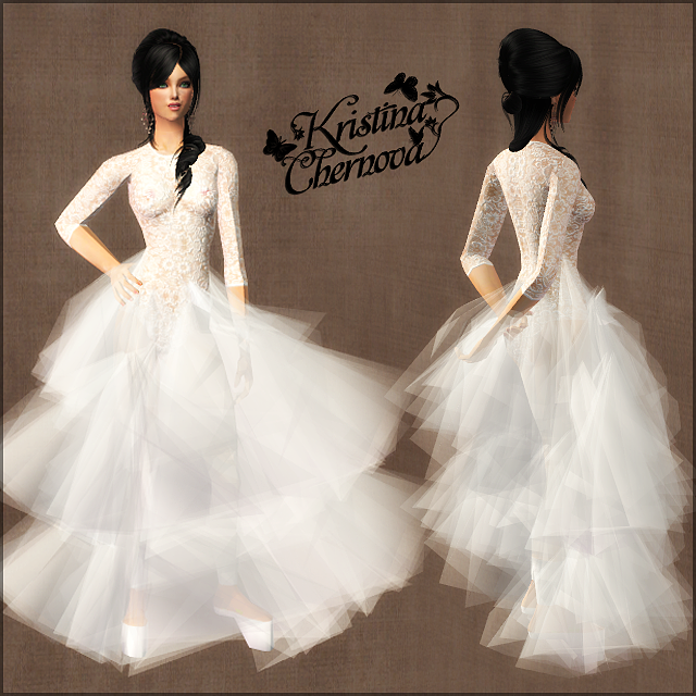 Wedding Altar Sims 2: Unusual Wedding Dress For The Sims 2 (TS2)