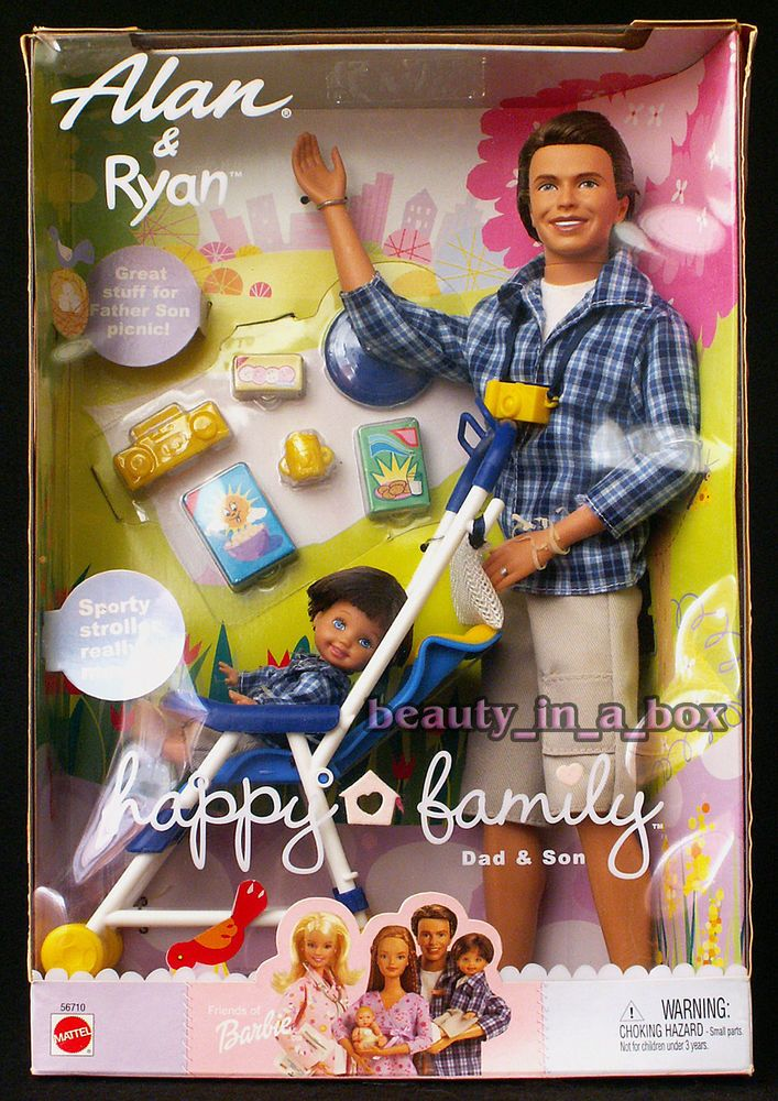 Alan Ryan Happy Family Barbie Doll Ken Tommy Dad and Son