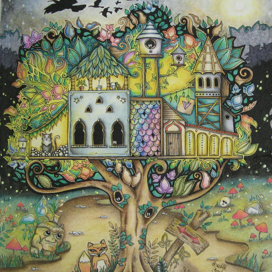 Take A Peek At This Great Artwork On Johanna Basfords Colouring Gallery Magic ForestTreehouseJohanna