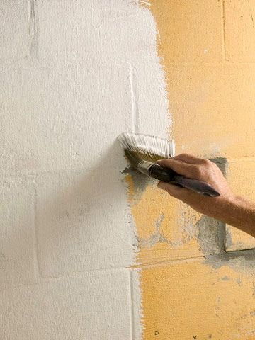 How to paint waterproof basement walls por mi casa - Sealing exterior cinder block walls ...