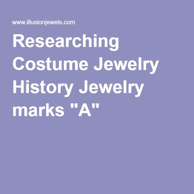 Researching Costume Jewelry >> Researching Costume Jewelry History Jewelry Marks A V2