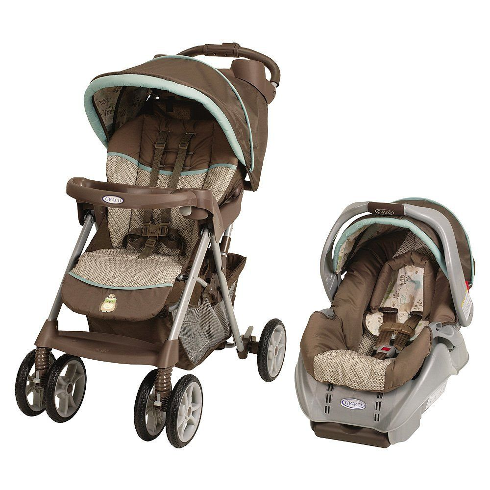 Graco Alano Travel System in Meadow Menagerie It has owls