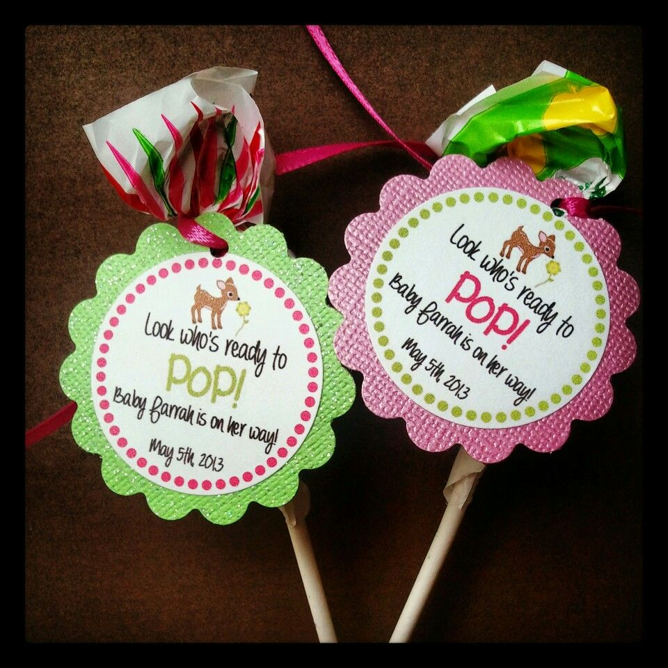 Doe baby shower blow pop favors! Tiny Tushies Diaper ...