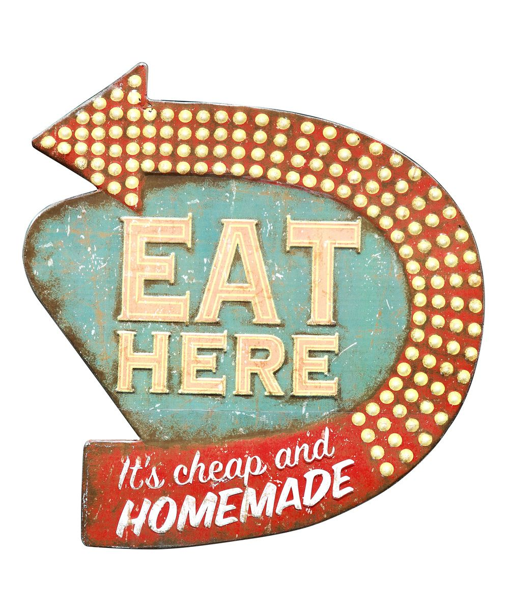 Tin Wall Plaques Eat Here Tin Wall Plaque  Zulily  Home Decor  Pinterest  Tin