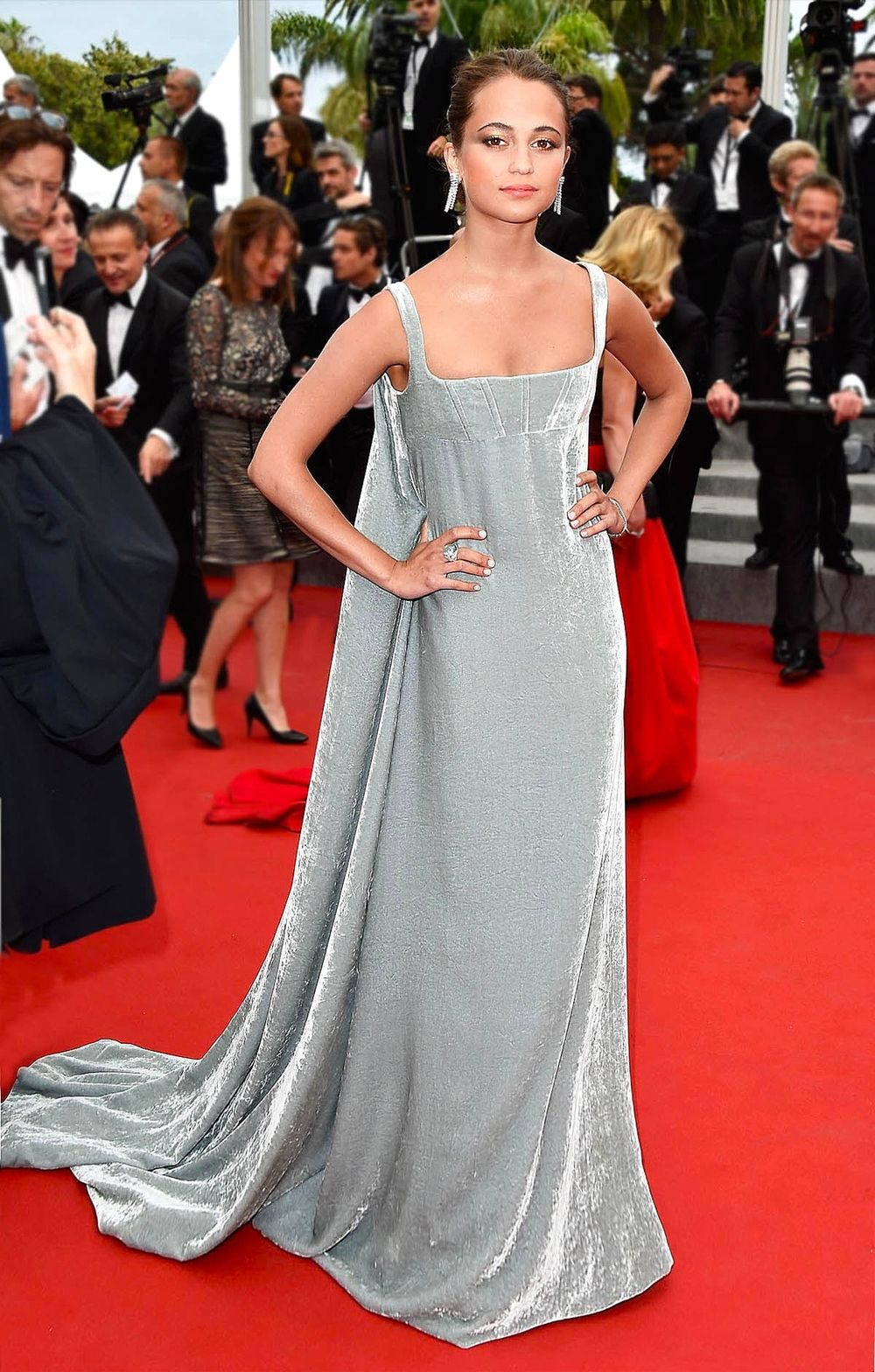 Serenity blue on the Red Carpet at Cannes.