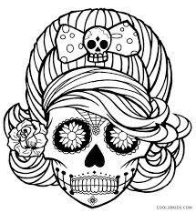 image result for easy sugar skull designs kleurplaten