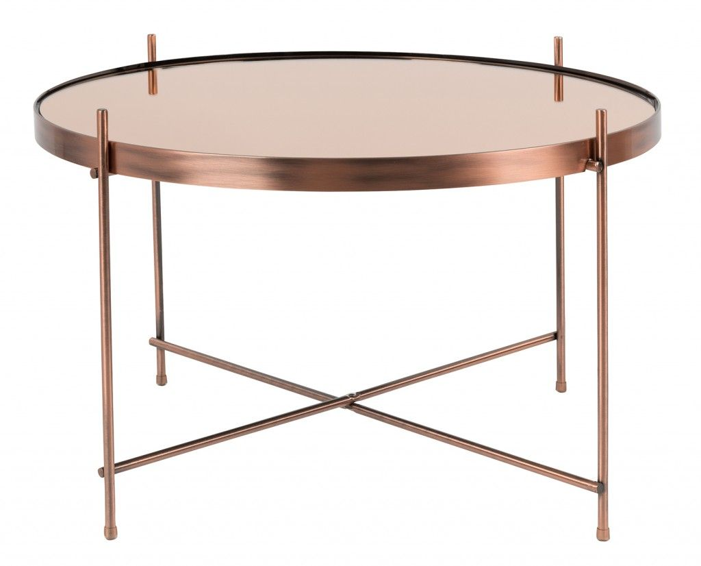 Tempered Glass Couchtisch Cupid Large & Xxl Coffee Table | Copper Coffee Table