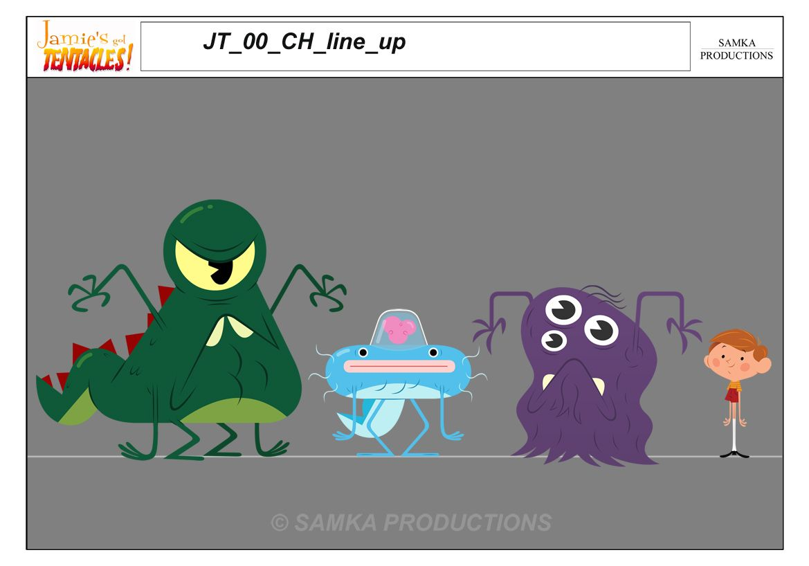 Jamie's Got Tentacles! | animation backgrounds/characters