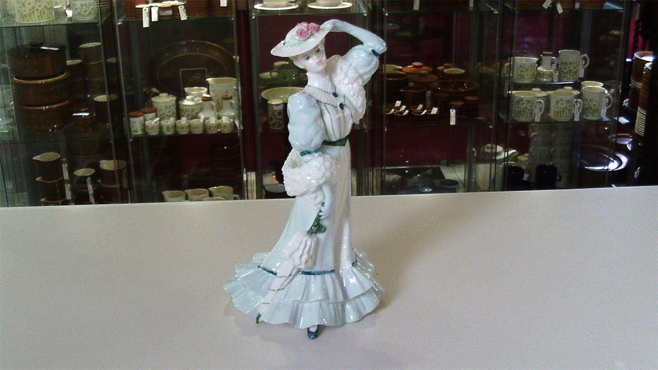 Coalport Golden Age. Bone China Figurine Beatrice At The Garden Party. c1989 - Artmosphere Antiques Battlesbridge Essex