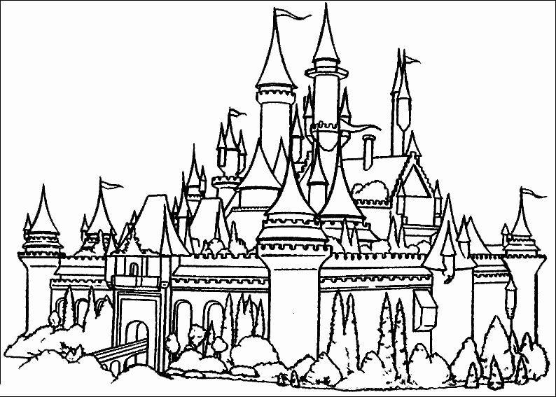 Disney Castle Coloring Page Luxury Cinderella Coloring Pages To Print Cinderella Coloring Pages Princess Coloring Pages Castle Coloring Page