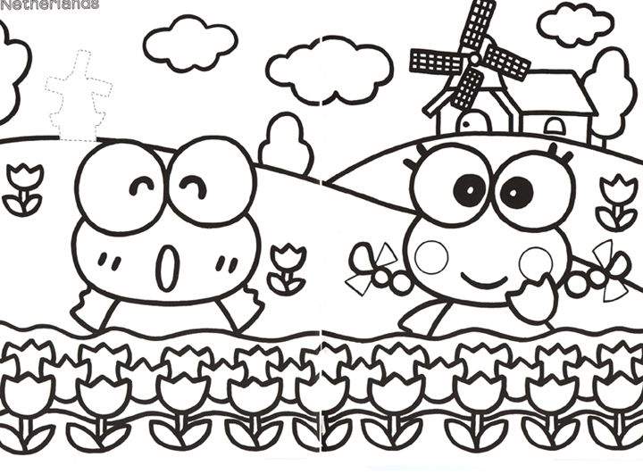 Keroppi Colouring Pages 250910 Jpg 720 531 With Images