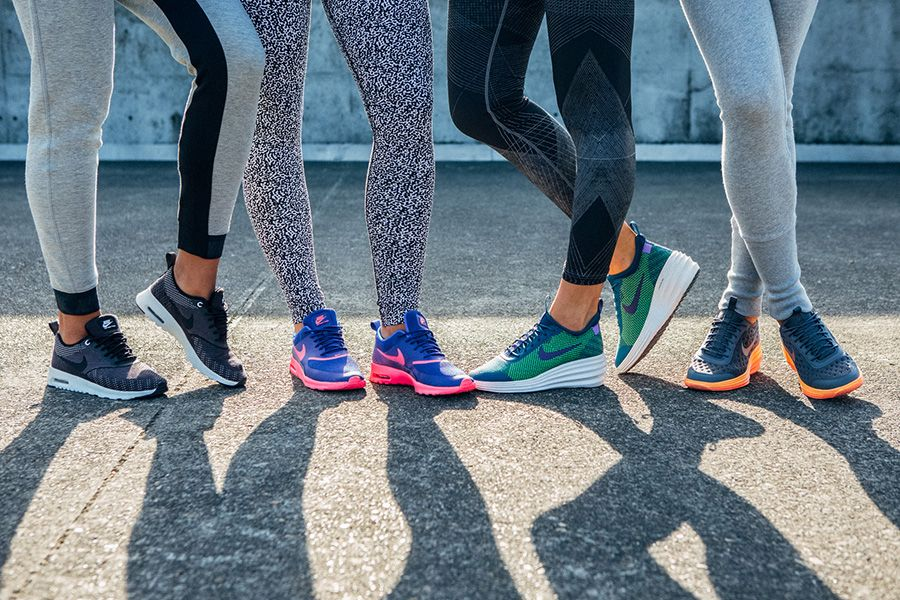 New level of cool. Keep it simple and comfortable in Nike kicks with iconic colors and prints.