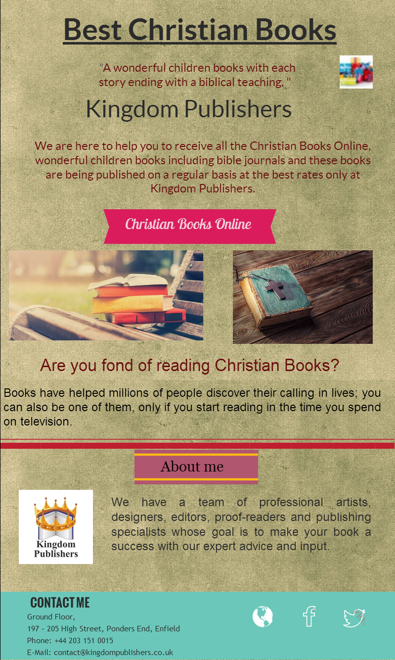 Explore a wide selection of Best Christian Books and Bible Books at Kingdom Publishers. These Books includes interesting topics to help churches and individuals build faith in God. We also have some enjoyable types of books.