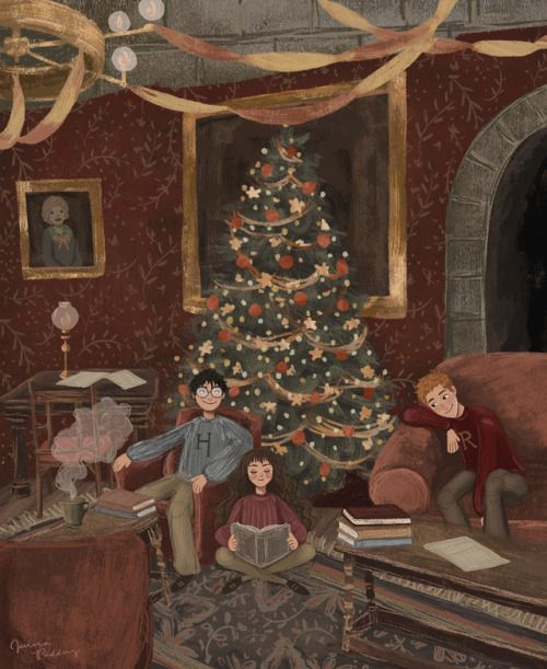 Oooohhhh What S This Christmas At Hogwarts Why Yes Indeed Done For A Recent Commission Harry Potter Illustrations Harry Potter Wallpaper Hogwarts Christmas