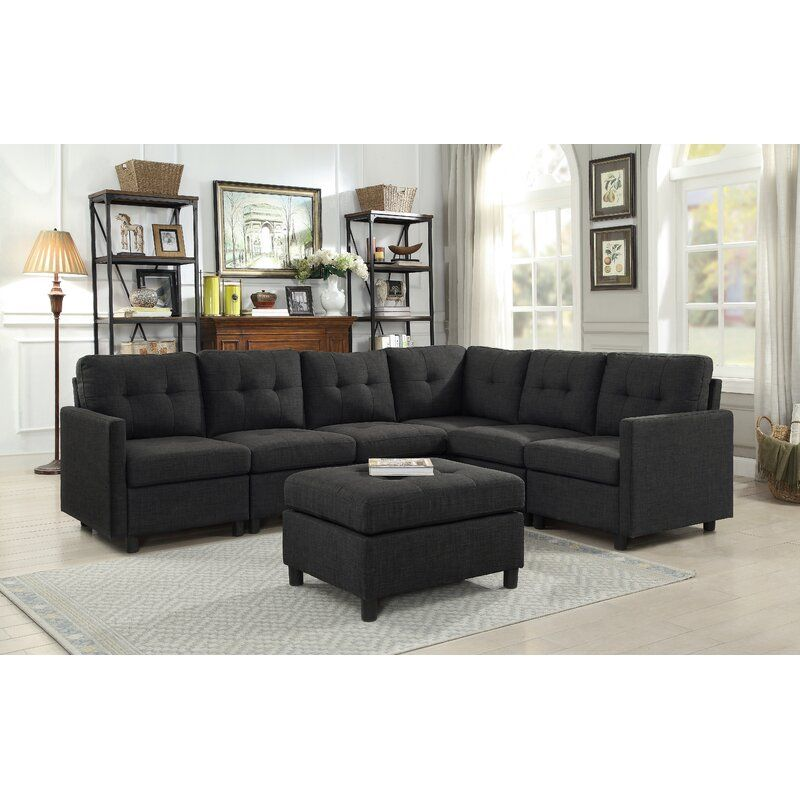 Horley Reversible Modular Sectional With Ottoman In 2020