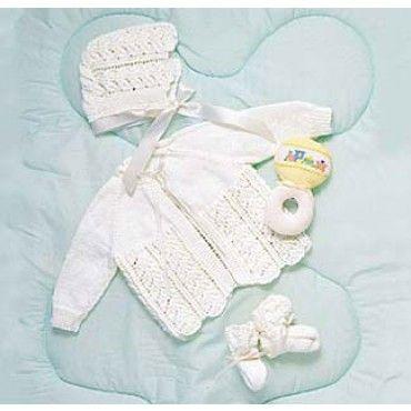 Mary Maxim Free Baby Layette Set Knit Pattern Free Patterns