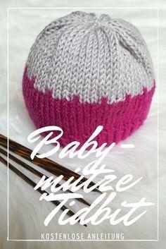 Photo of Baby hat Tidbit – Free knitting instructions – Caros Fummeley