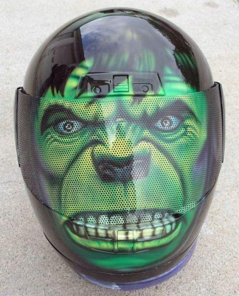 Casco De Moto Hulk With Images Cool Motorcycle Helmets Custom