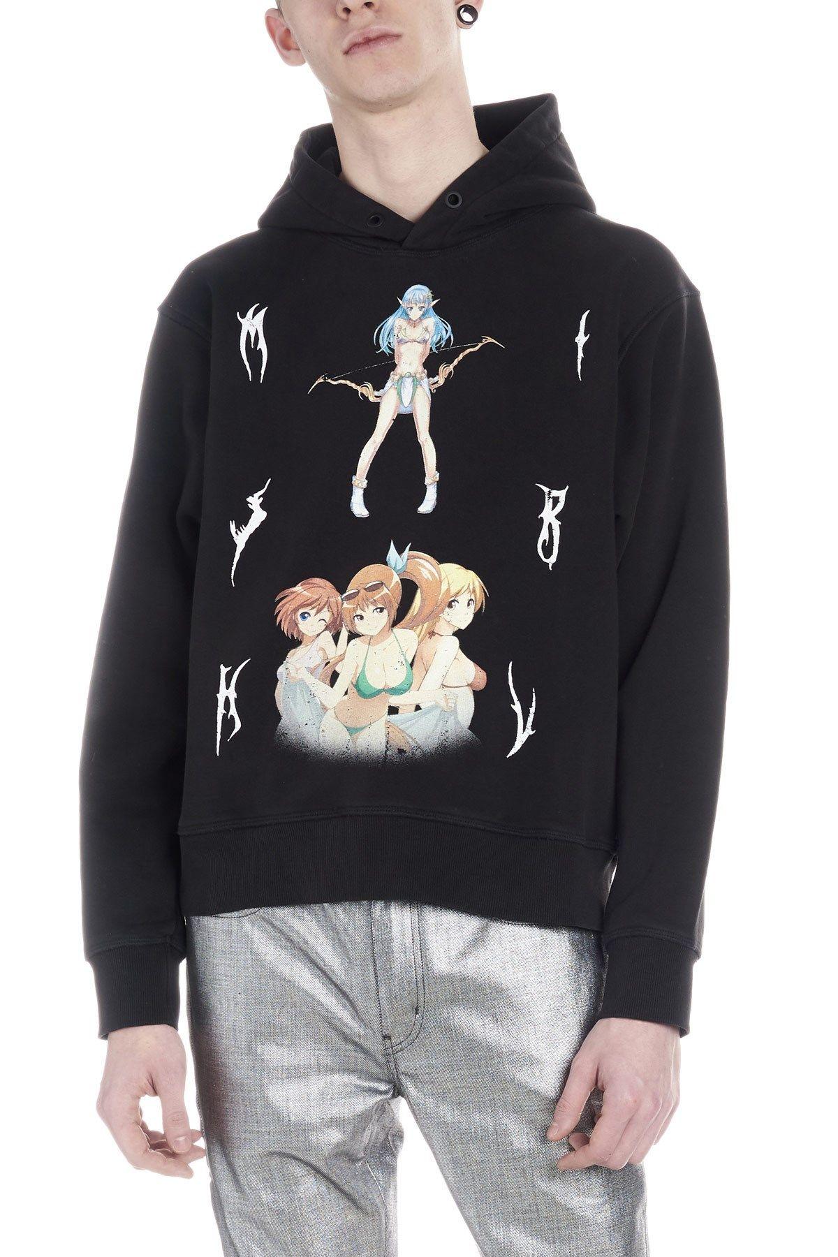 Misbhv double anime hoodie cod w1096ss19washedblack
