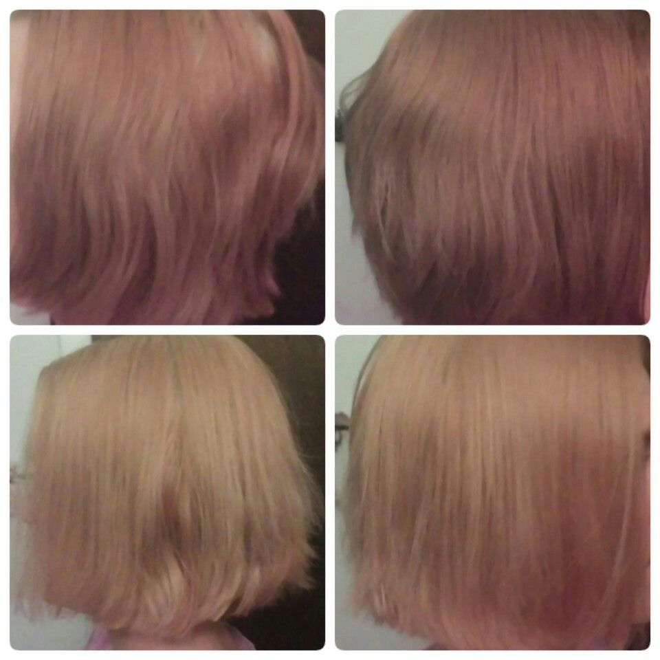 Before And After Vitamin C Method Temporary Hair Color Demi Hair Color Hair Color Remover