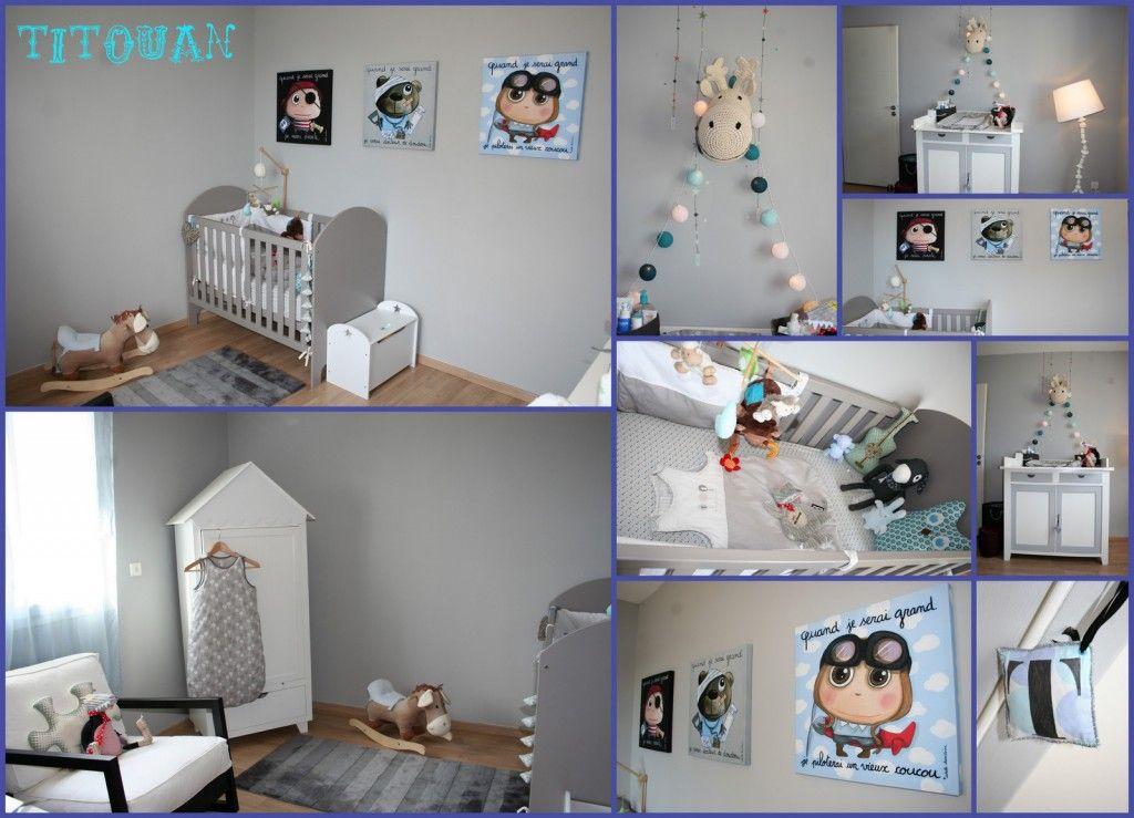 dcoration chambre bb garon gris