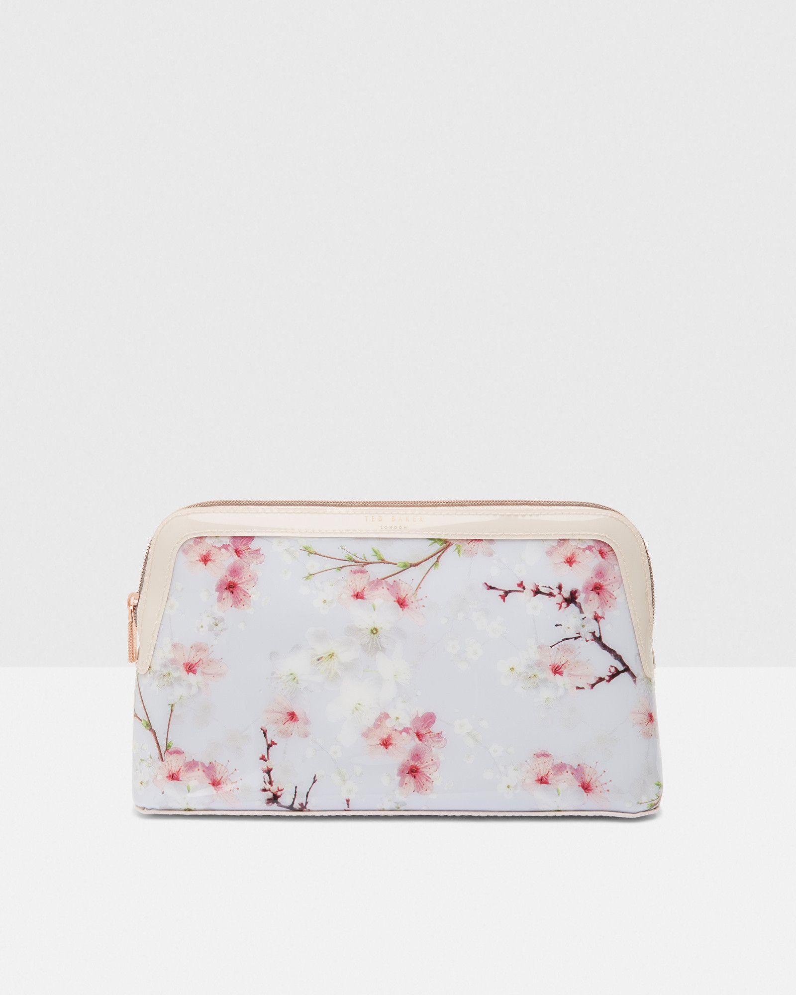 67444f0c0fc248 Oriental Blossom wash bag - Light Grey